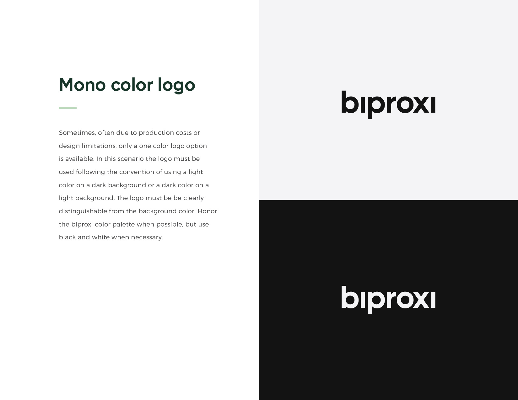 Raymond Lombardi design for Biproxi brand guidelines.