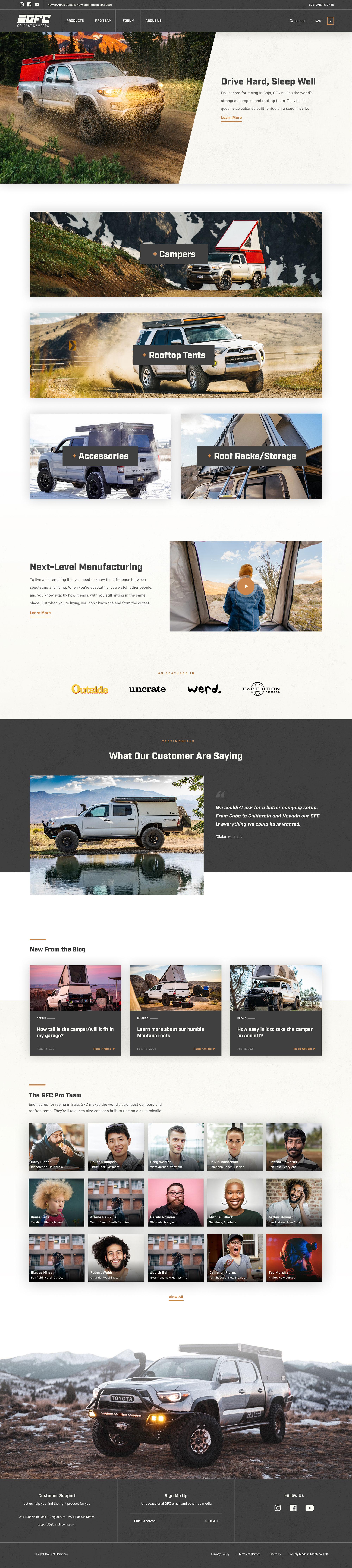 Raymond Lombardi design that features Michelle Allen website design.