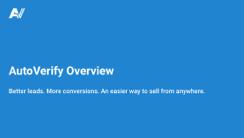 AutoVerify Overview