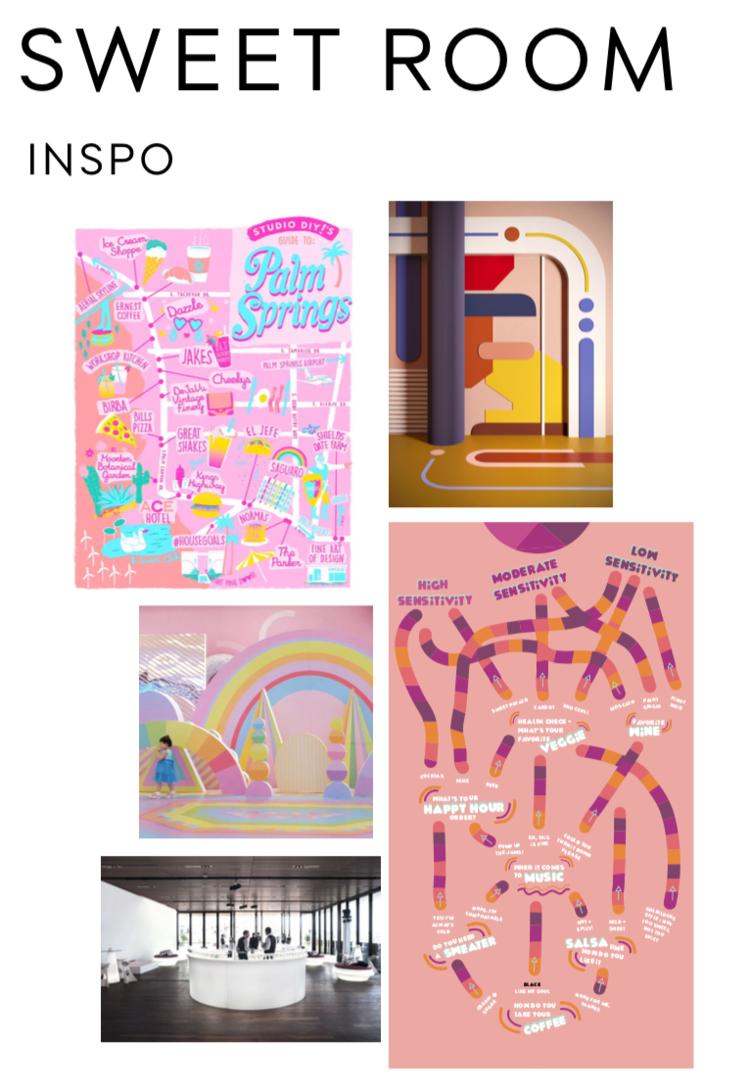 rose mansion-pop-up-design-sweet room moodboard