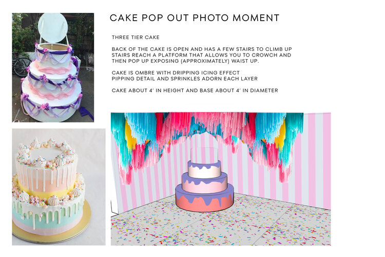 rose mansion-pop-up-design-cake moldboard