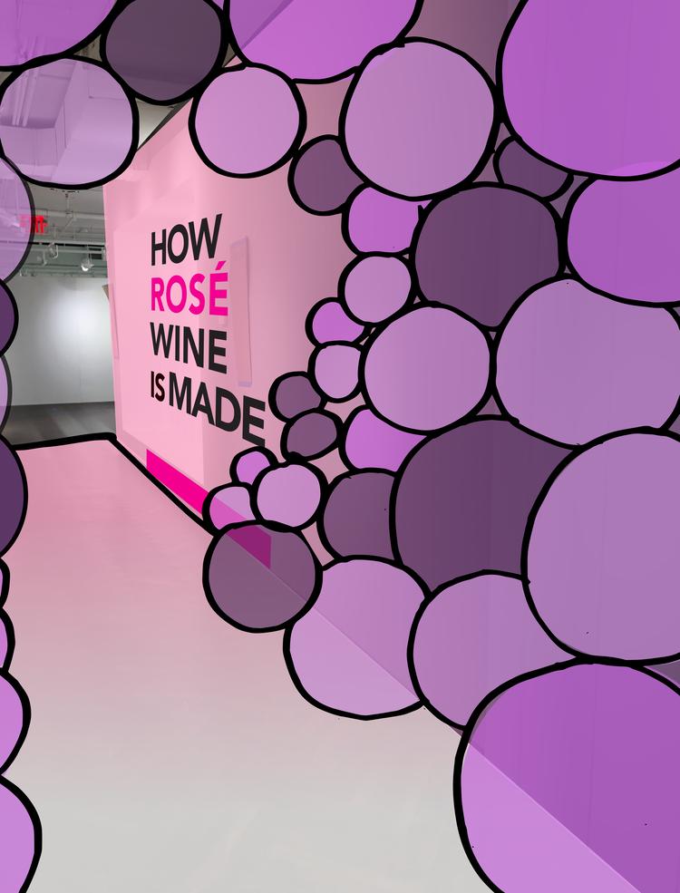 rose mansion - pop up - grape sketch