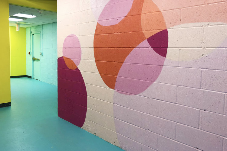 rose mansion - pop up - bubble mural