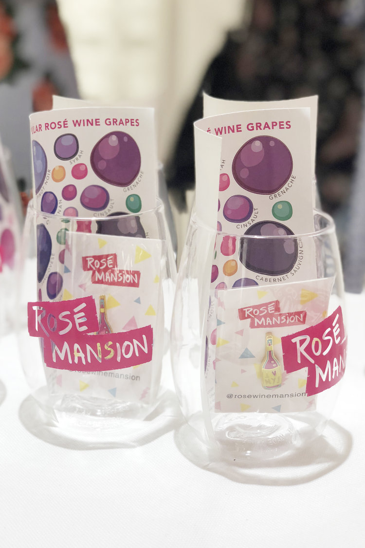 rose mansion - pop up - stickers and cups