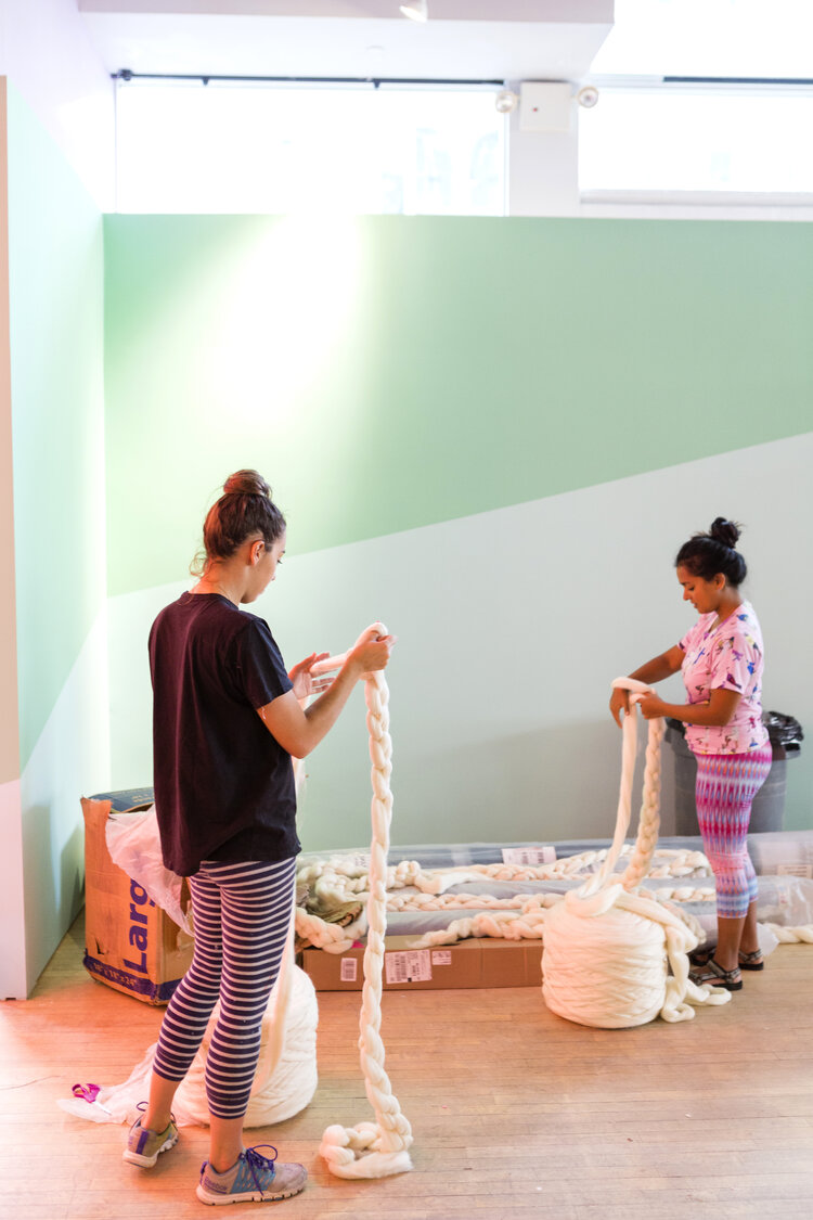 brit + co - create + cultivate - building the wall