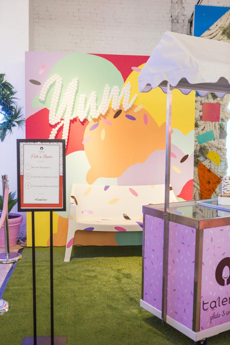 brit + co - create + cultivate - talenti booth