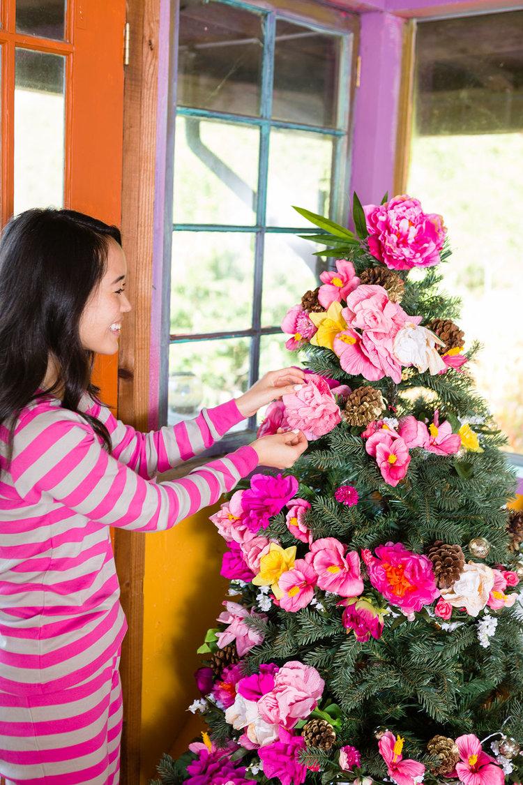 Brit + Co - floral tree