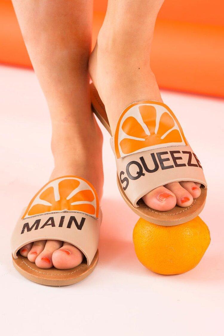 Brit + Co - orange sandals