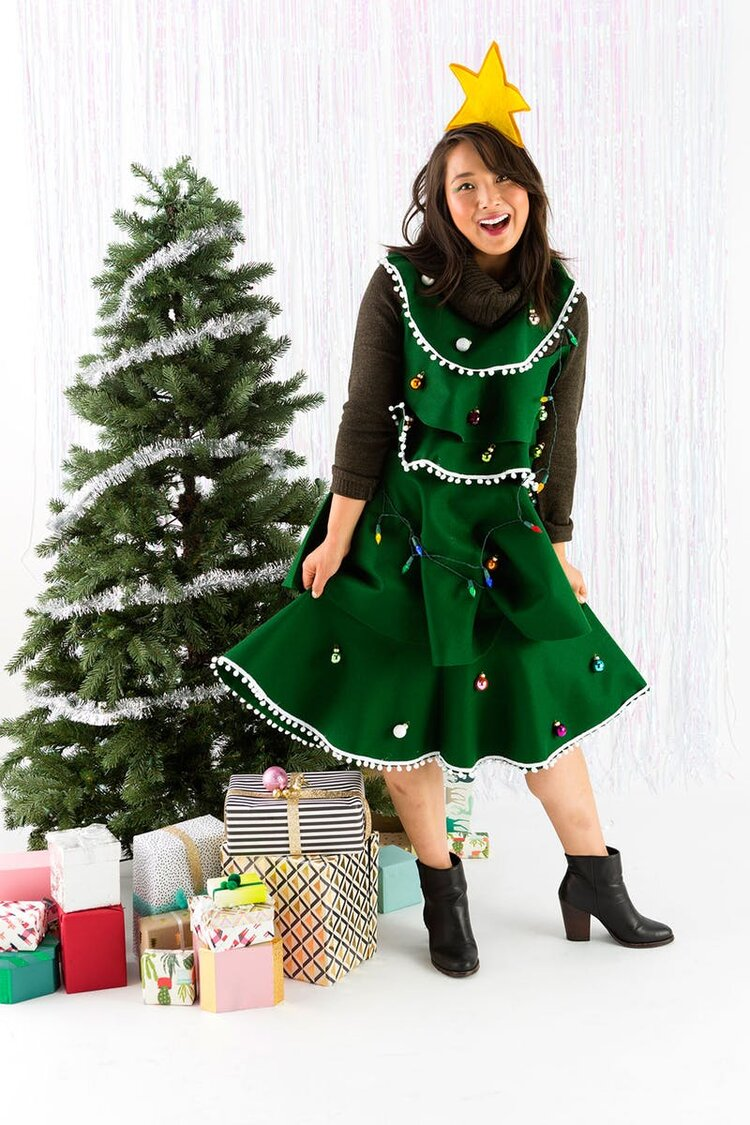 Brit + Co - christmas tree dress