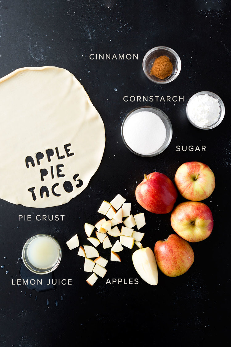 Brit + Co - apple pie tacos