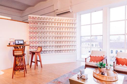yankee candle - custom candle wall
