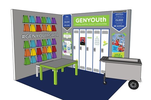GenYouth Gala booth -3d rendering