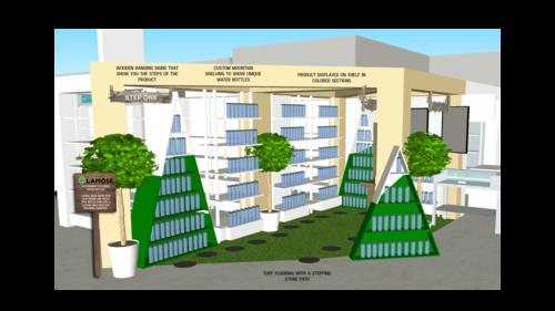 Lamose retail space - 3d rendering -1