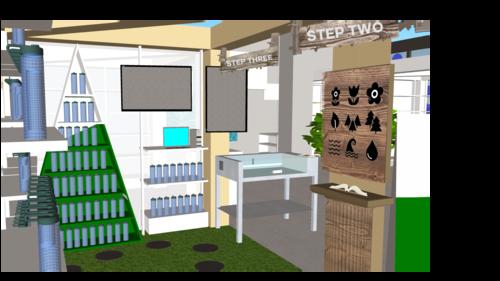 Lamose retail space - 3d rendering -3