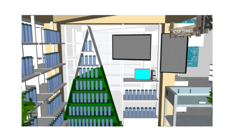 Lamose retail space - 3d rendering -2
