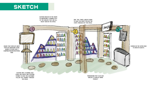 Lamose retail space - 3d rendering -5