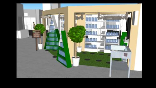 Lamose retail space - 3d rendering -4