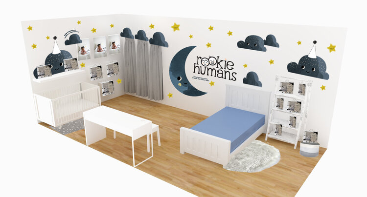 Rookie Humans - trade show booth - 3d rendering