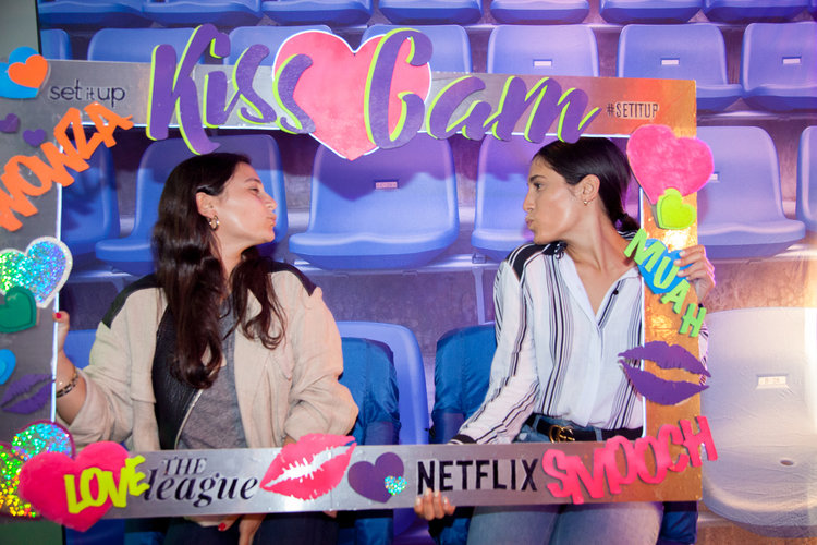 Netflix - event party - kiss cam