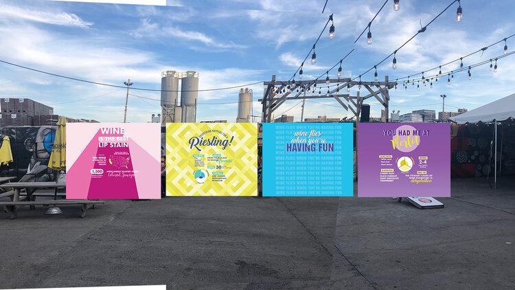 Fine wine - photo backdrop panels