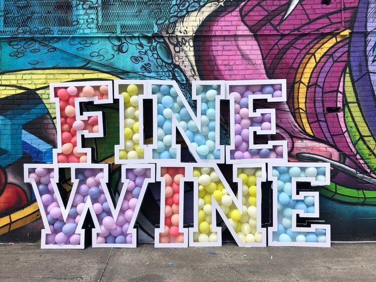 Fine Wine - balloon install