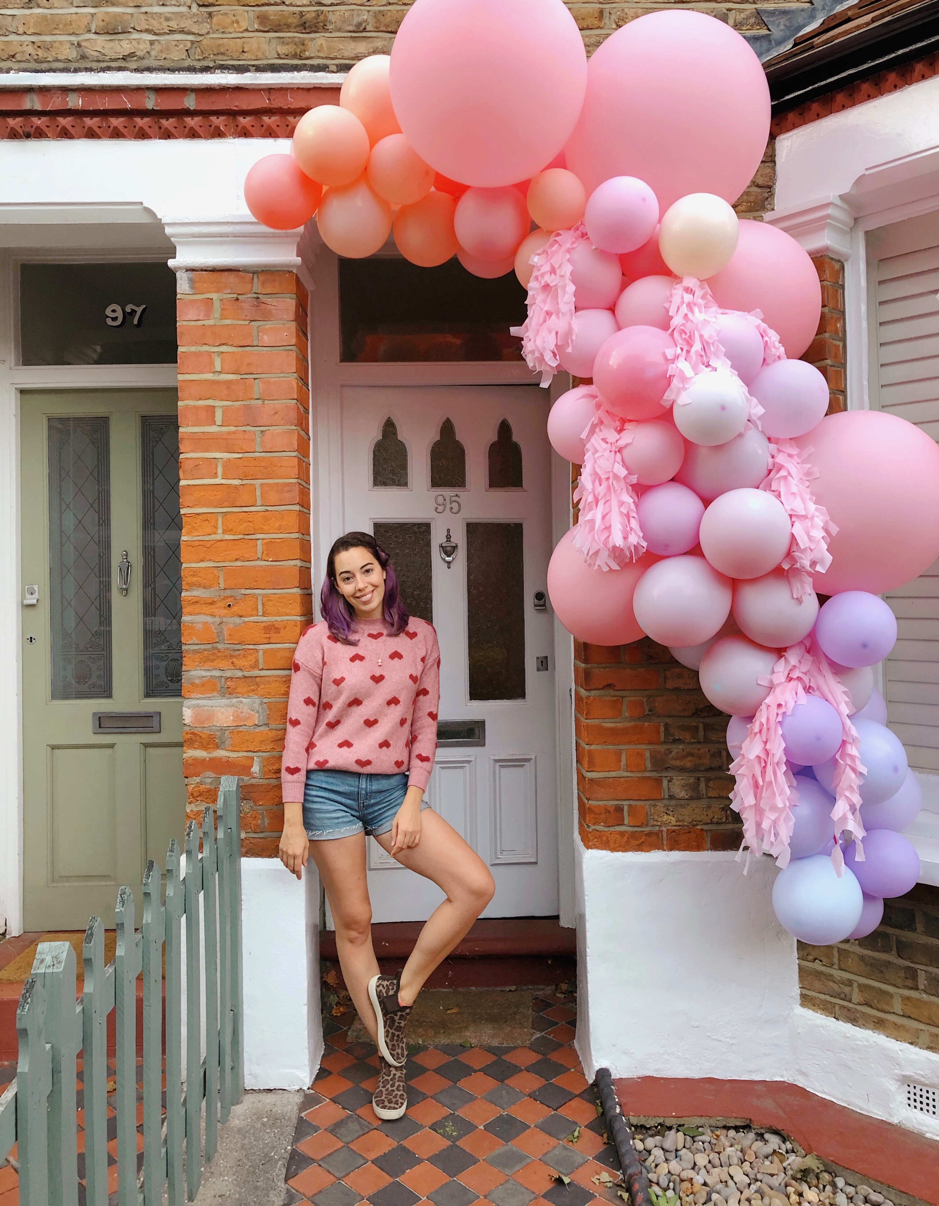 balloon garland installation - colorful - creative director