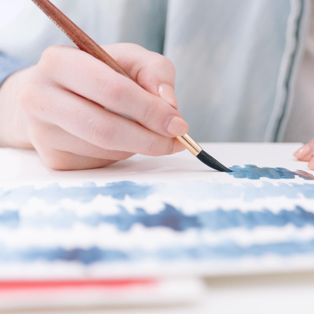 craft pieces- diwifey-logo design - watercolor
