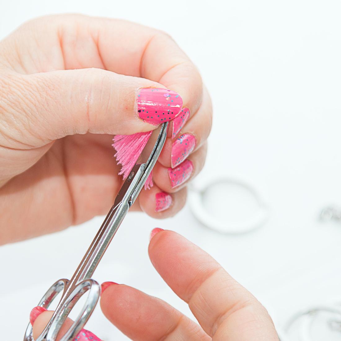 craft pieces- diwifey-logo design - tassels