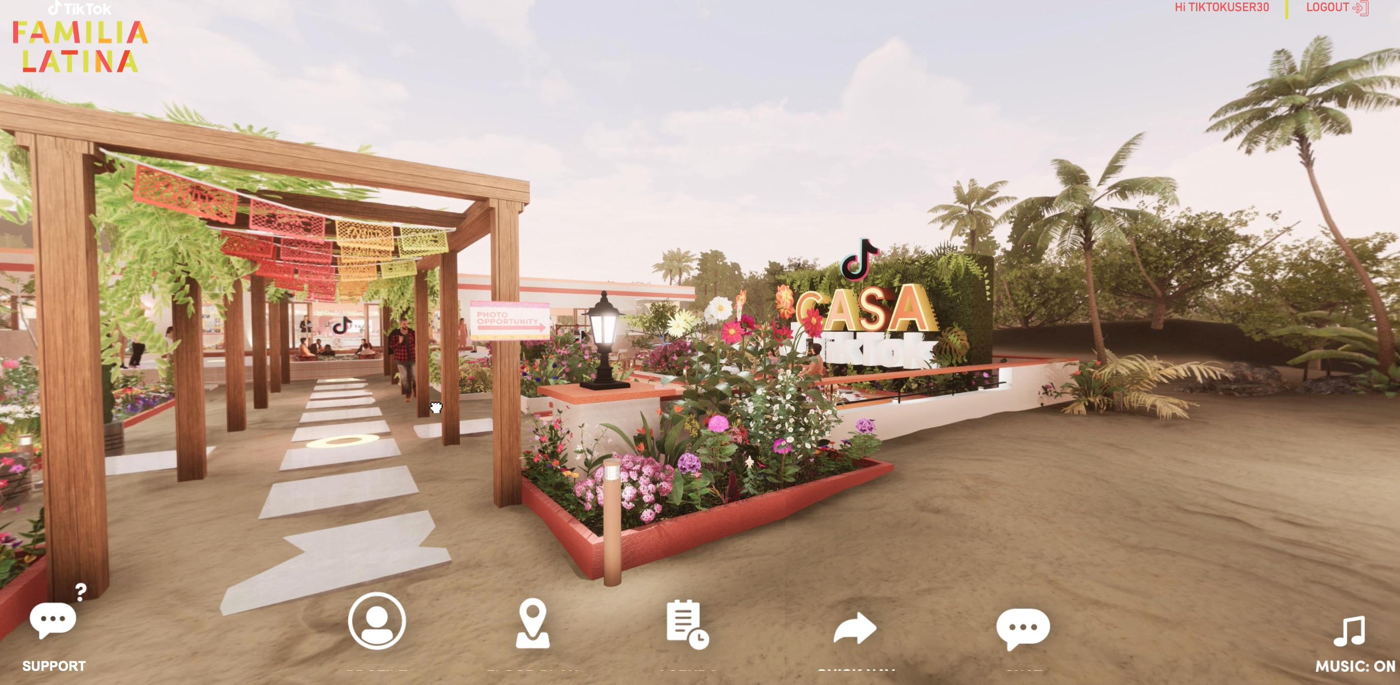 TikTok La Familia Latina Virtual Event Design OUTDOOR SPACE