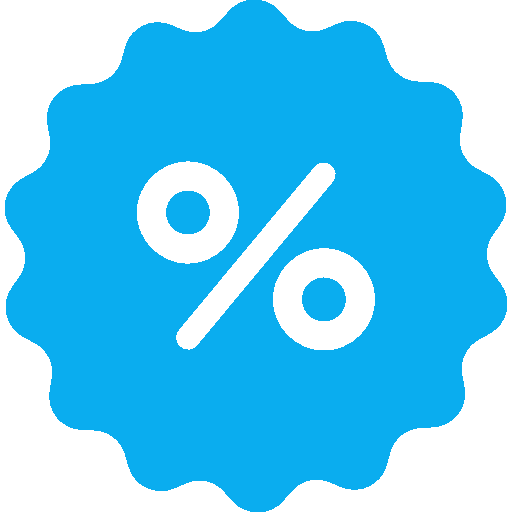 percentage inside ribbon image