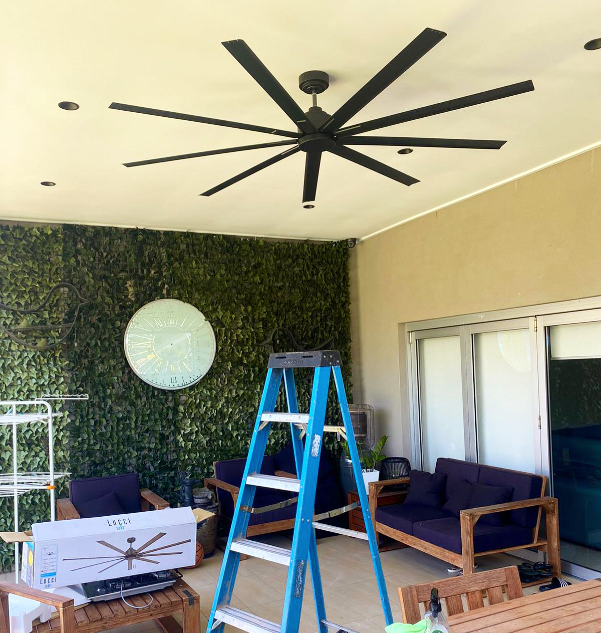 Ceiling fan installation by Justflow Electrical Services