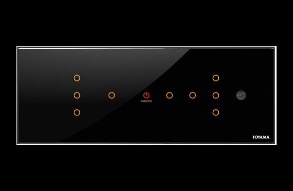 Toyama 9 key lighting control Touch panels