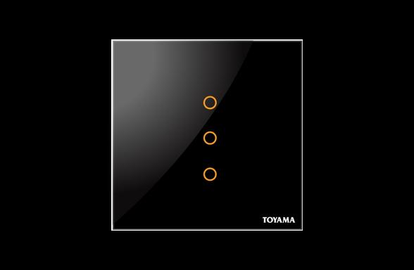 British Standard 3 Key Lighting Control Switch by Toyama