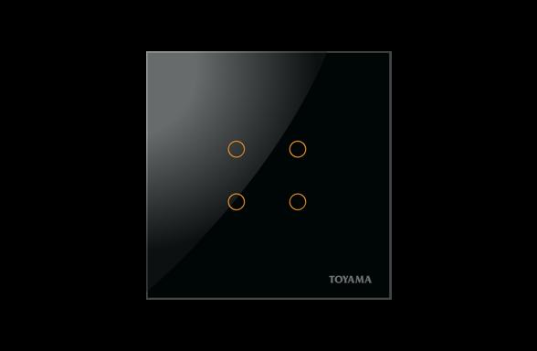 British Standard 4 key Lighting Control Switch by Toyama