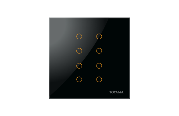 British Standard 8 key Lighting control switch by Toyama