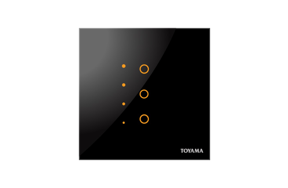 Three key Dimming Touch switch by Toyama