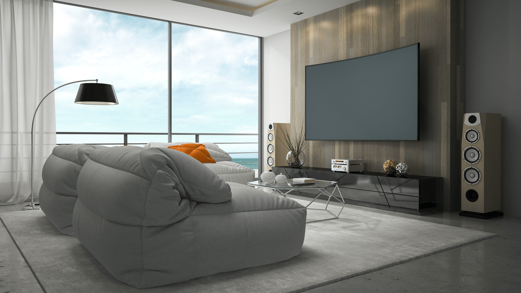 a luxury smart home theatre with complete av and lighting automation