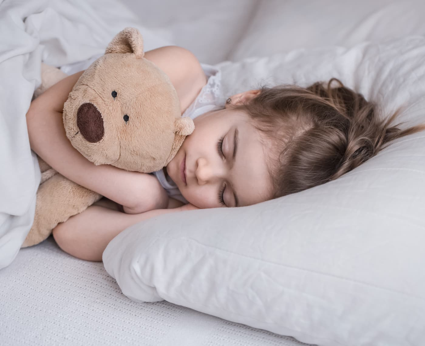 A cute child sleeping