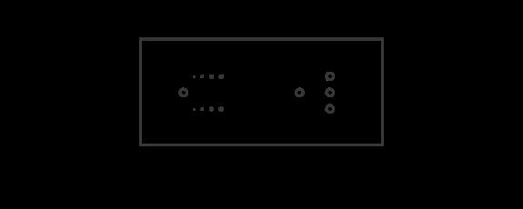 6 module dimming metal configuration box