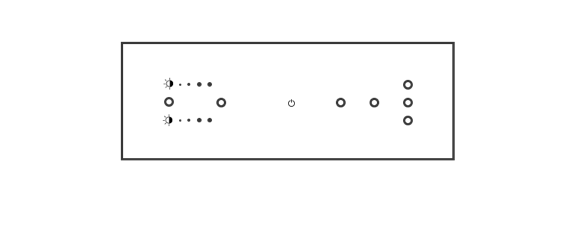 8 module dimming metal configuration box