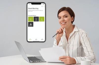 WizHom app to control thermostat