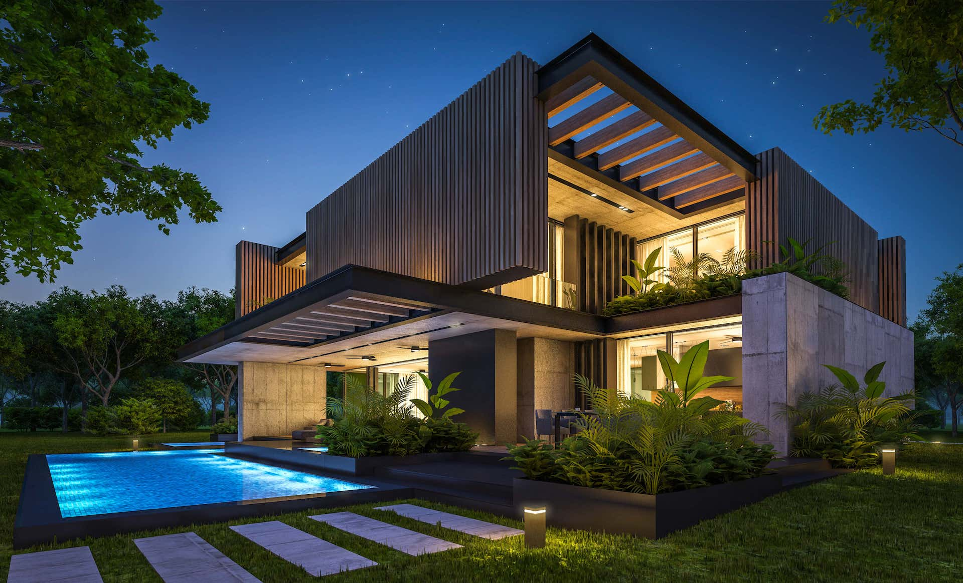 A luxurious modern smart home with home automation in pune