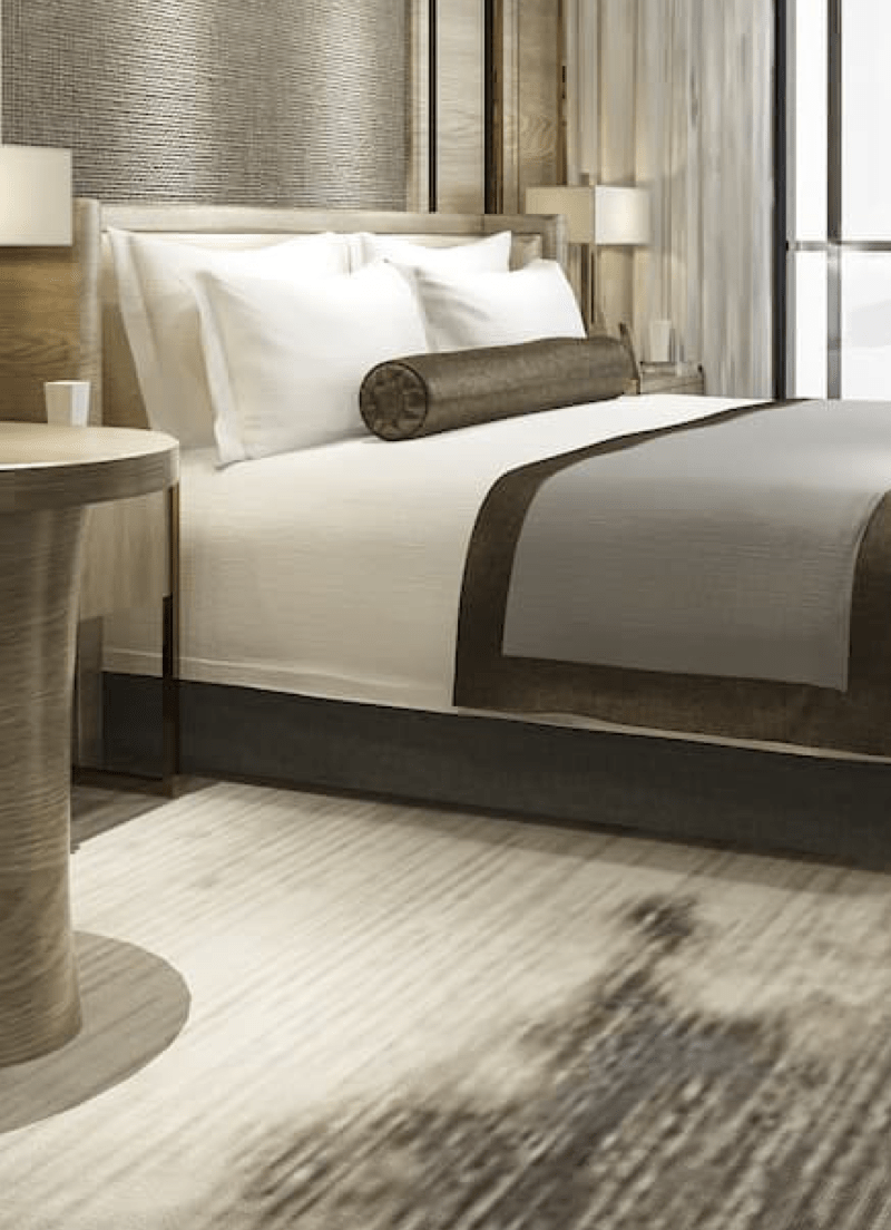 A hotel room with hotel automation solutions in Bangalore