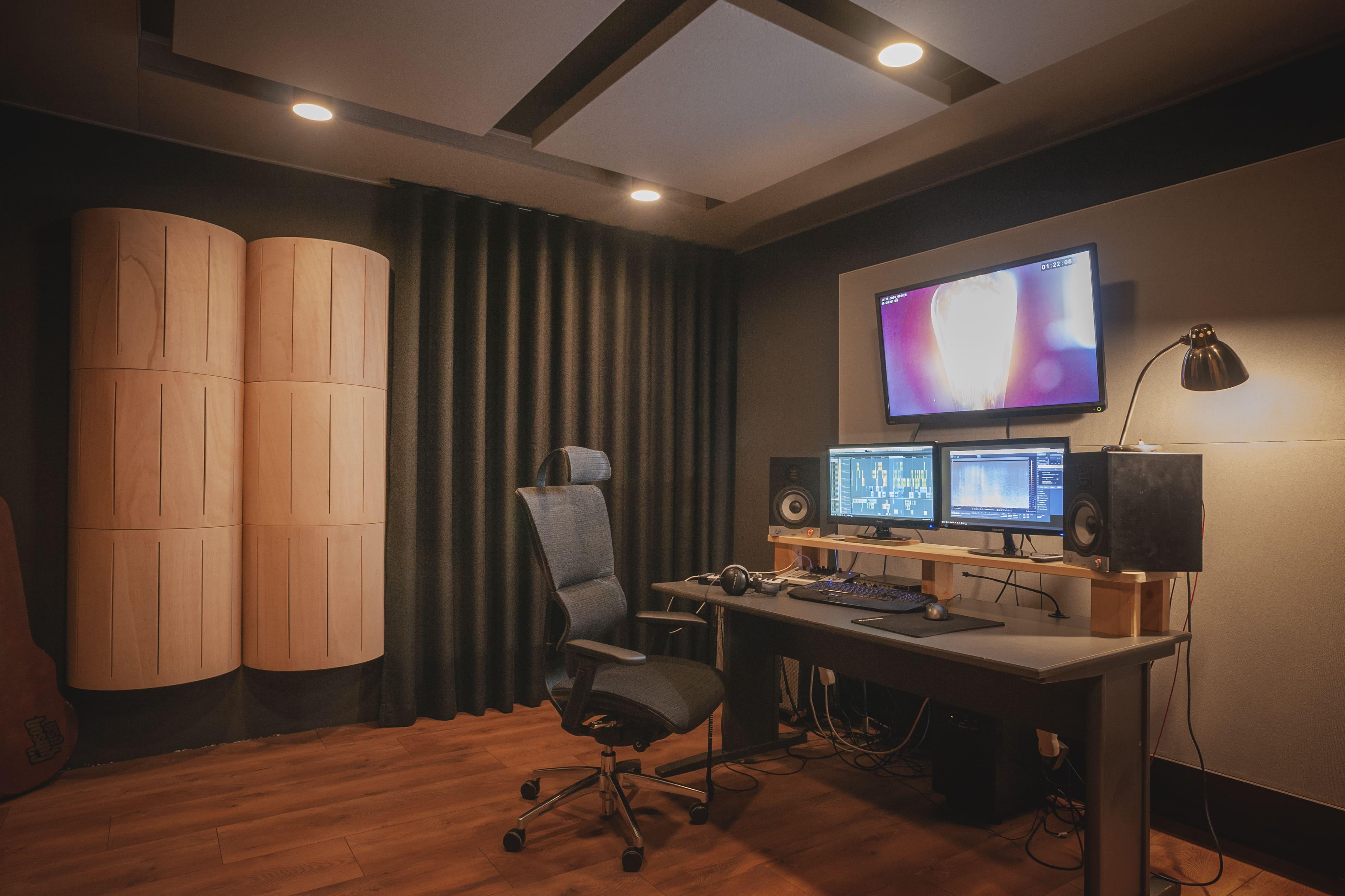 Studio muzyczne, dyfuzor akustyczny