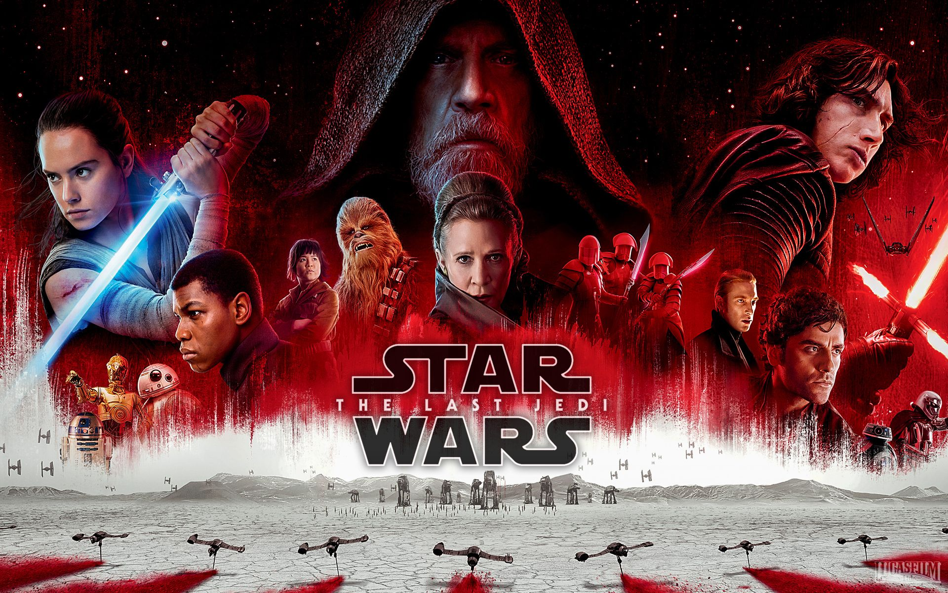 The poster of Star Wars: The Last Jedi, which is a film we have provided our rigging services to.