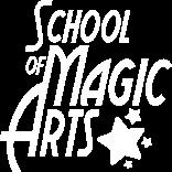 School of Magic Arts logo in white.