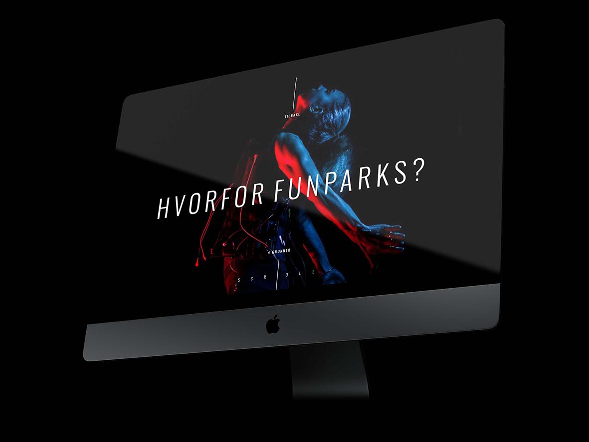Prosjektbilde av Funparks hjemmeside