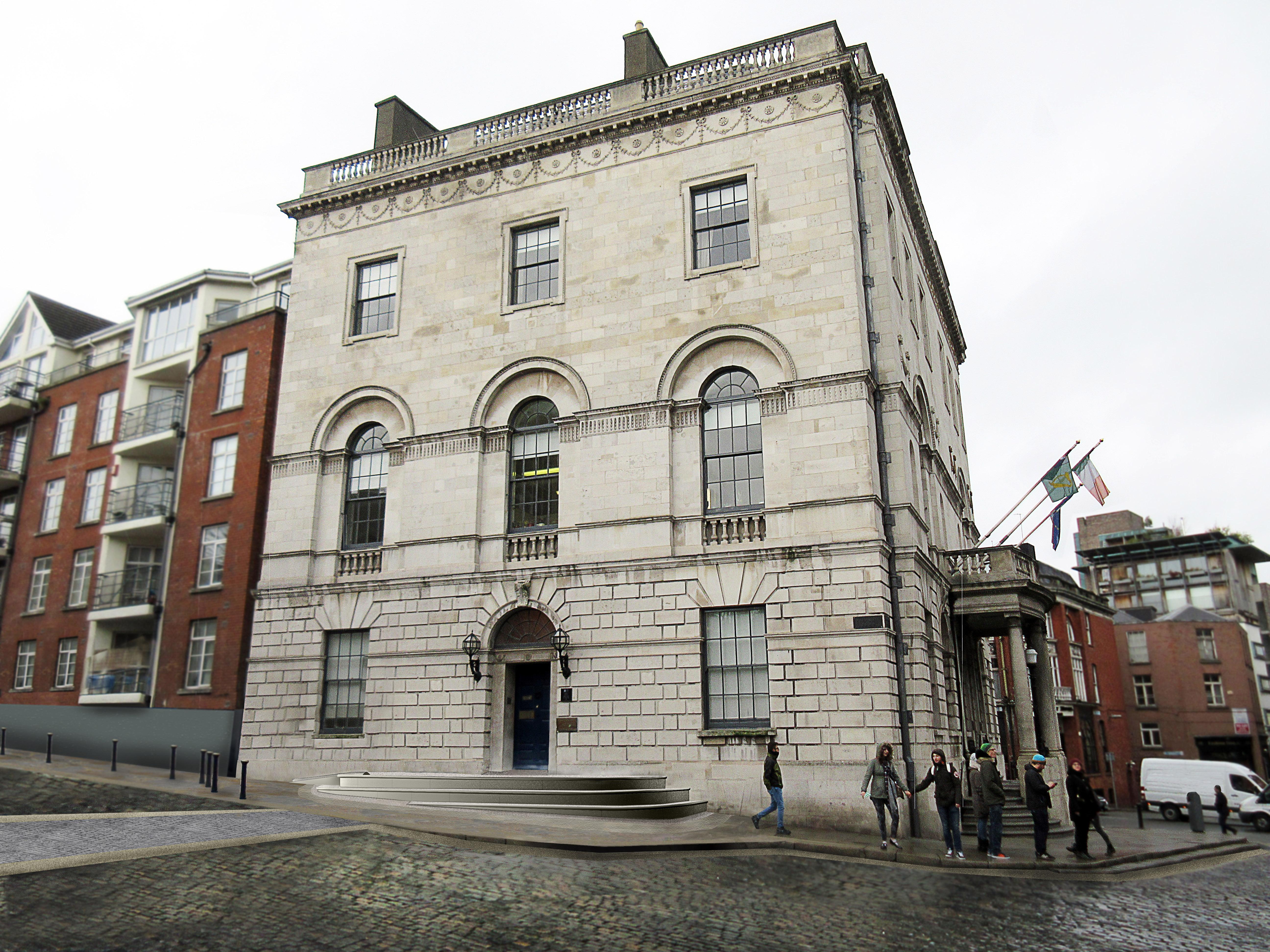 Public Realm Design for Castle Street & Exchange Court, Dublin