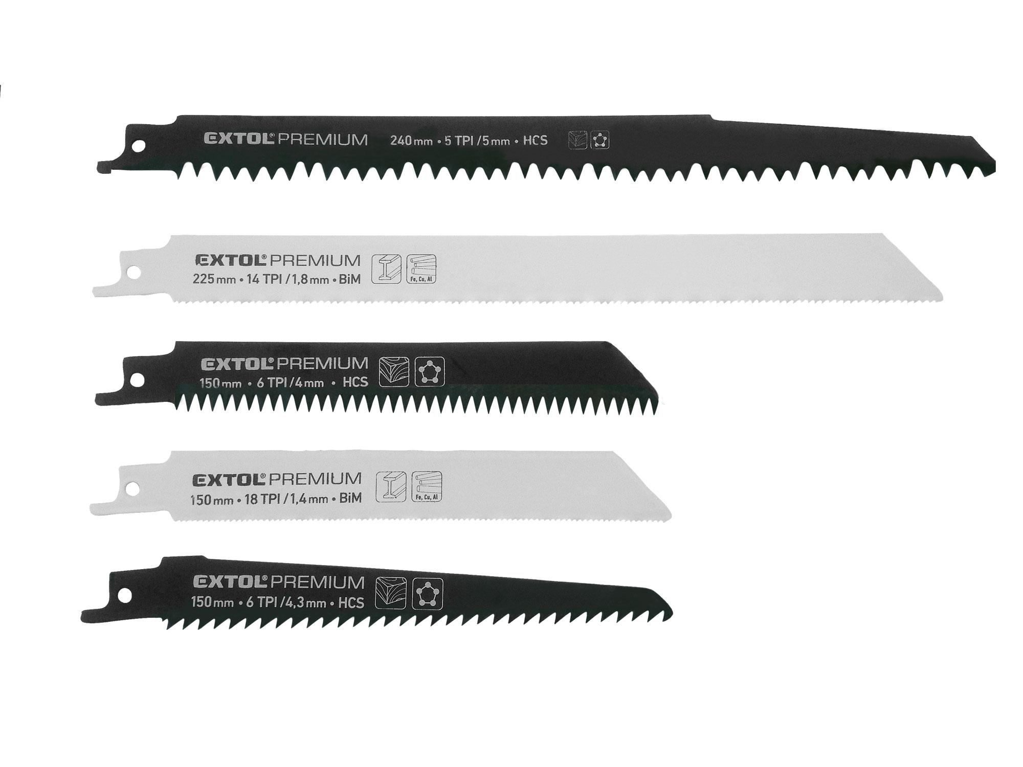 5pcs Sabre/Reciprocating Saw Blade Set, HCS, BIM