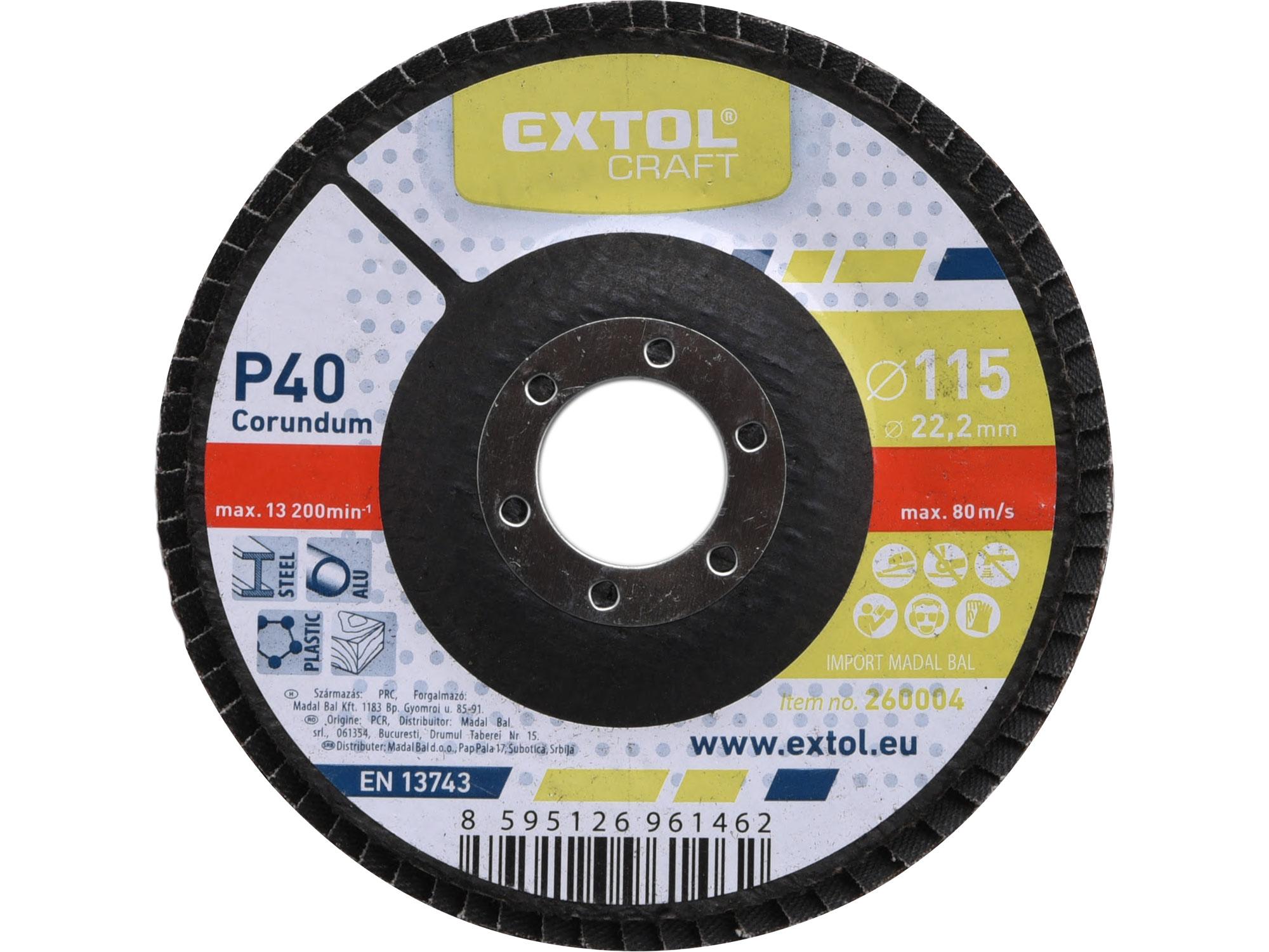 Flap Disc, 115mm Dia, P40